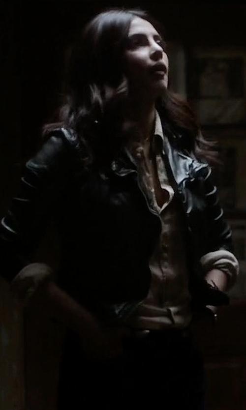 Priyanka Chopra with Lamarque Donna 16 Jacket in Quantico