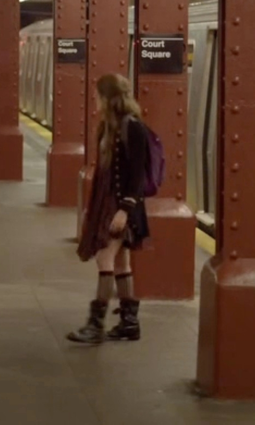Carly Chaikin with Clarks Artisan Fernwood Lake Mid-Shaft Boots in Mr. Robot