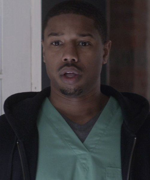 Michael B. Jordan with Intimo Soft Knit Short Sleeve V-Neck Top in That Awkward Moment