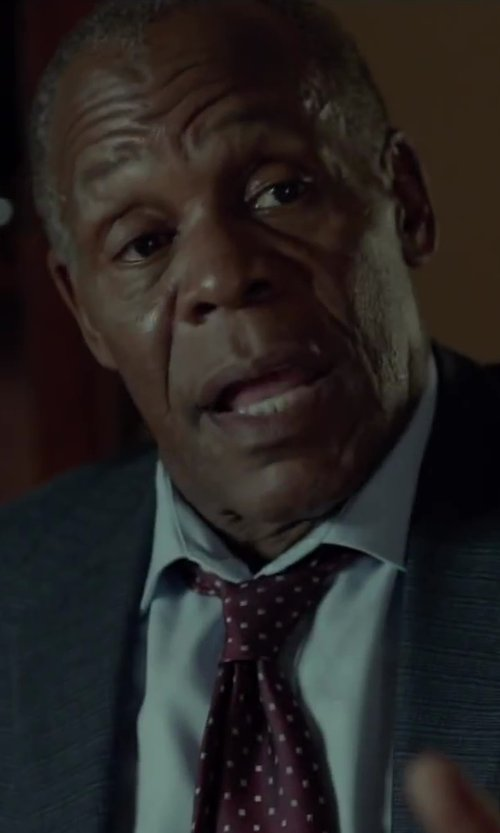 Danny Glover with Dolce & Gabbana Polka Dot Tie in Beyond the Lights