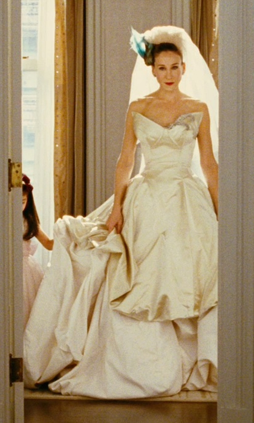 Sarah Jessica Parker with Vivienne Westwood Lily Wedding Gown in Sex and the City