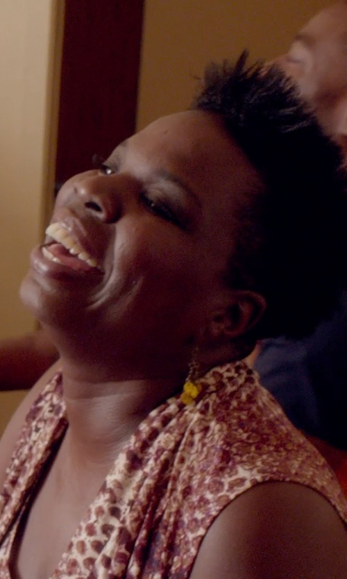 Leslie Jones with YooLa Pearl Dangle Earrings in Top Five