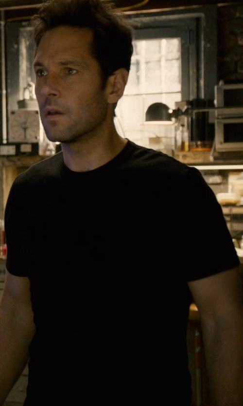 Paul Rudd with Fred Perry Crew Neck T-Shirt in Ant-Man