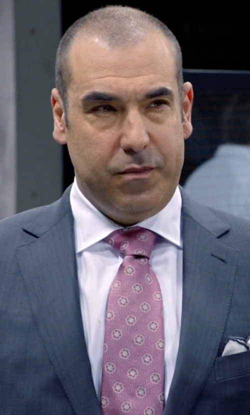 Rick Hoffman with Lord & Taylor Sunburst Circle Silk Tie in Suits
