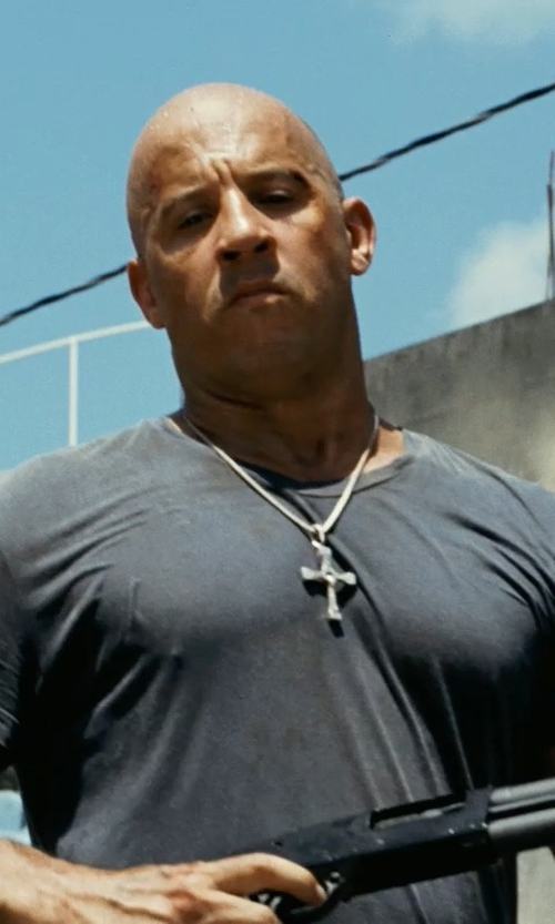 Vin Diesel with Velvet by Graham & Spencer Men's Samsen V-Neck T-Shirt in Fast Five