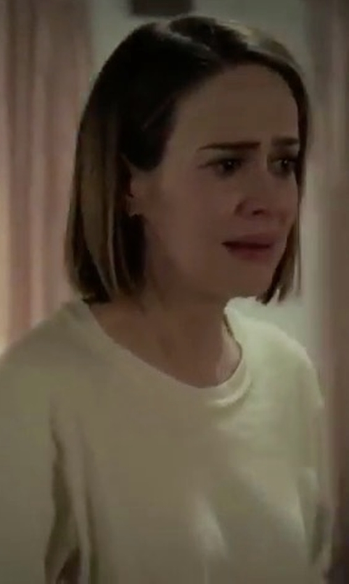 Sarah Paulson with Eileen Fisher Organic Cotton-Blend Ottoman Pullover in American Horror Story