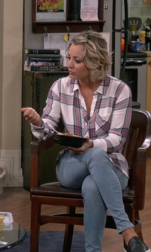 Kaley Cuoco-Sweeting with Rails Hunter Button Down in The Big Bang Theory