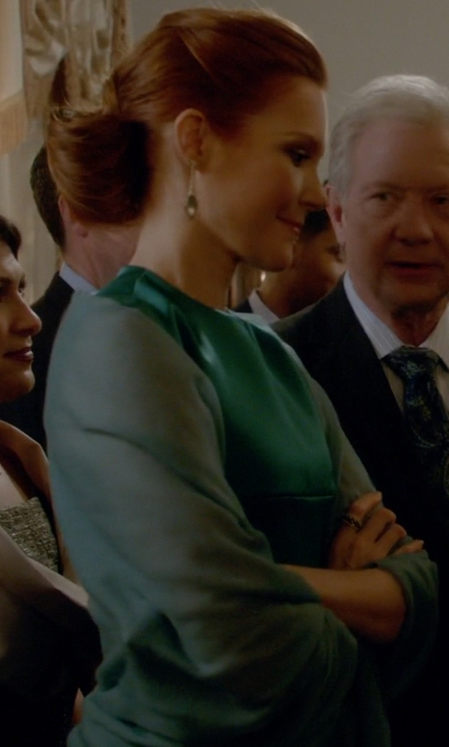 Darby Stanchfield with Ports 1961 Satin A-Line Dress in Scandal