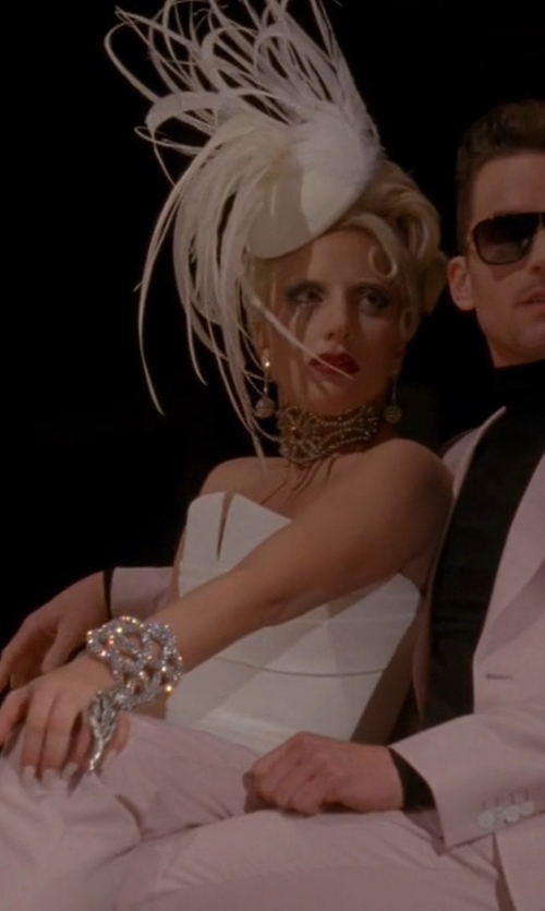 Lady Gaga with Arturo Rios Off White Bird Fascinator Headpiece in American Horror Story