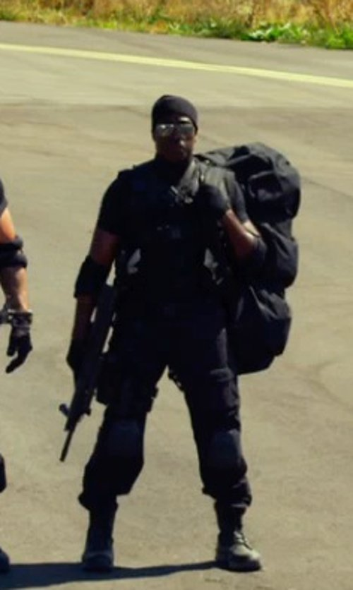 Wesley Snipes with Norse Projects Norse Top Beanie in The Expendables 3