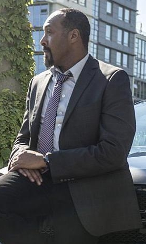 Jesse L. Martin with Saint Laurent Slim-Fit Wool and Cashmere-Blend Blazer in The Flash