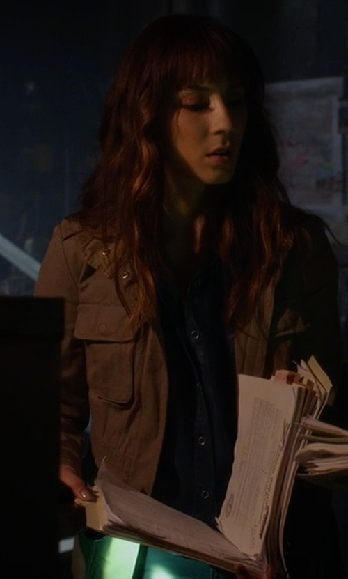 Troian Bellisario with Lucky Brand  Cargo Jacket in Pretty Little Liars