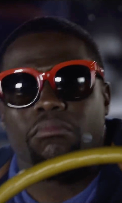 Kevin Hart with Coach Casey Square Sunglasses in Ride Along 2