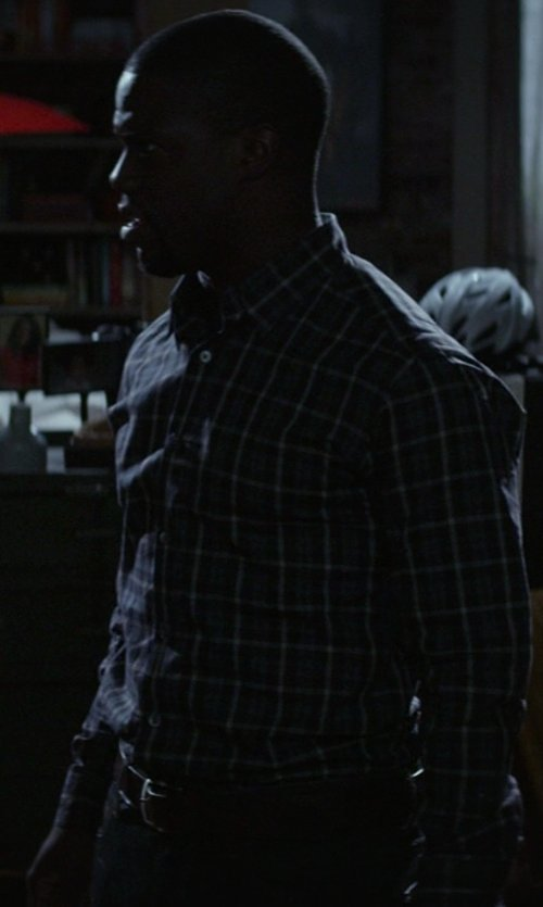 Kevin Hart with Ralph Lauren Plaque Leather Belt in Ride Along