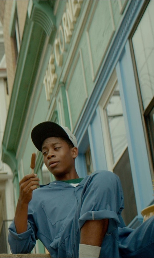 RJ Cyler with Red Kap Men's Button Front Cotton Coverall in Me and Earl and the Dying Girl