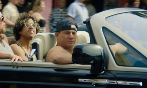 Channing Tatum with Rolls Royce Phantom Drophead Coupé in Magic Mike XXL