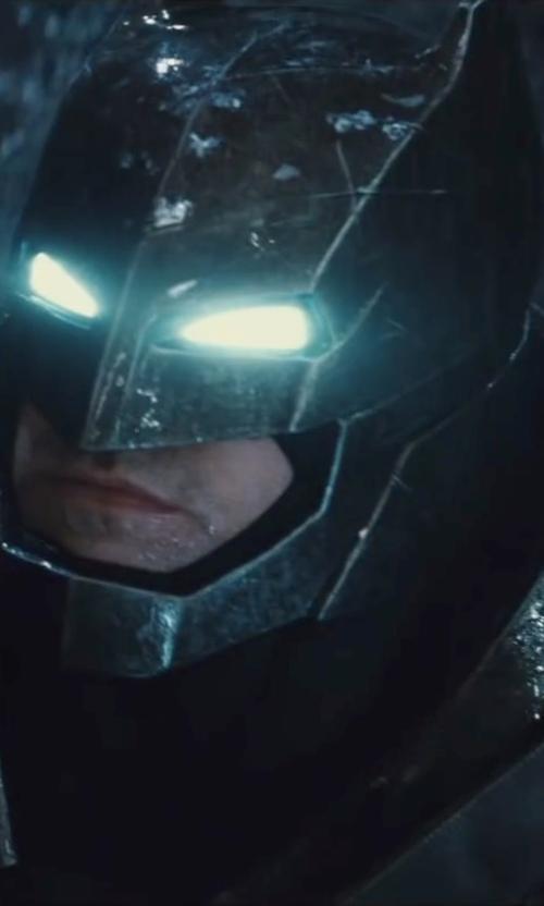 Ben Affleck with Michael Wilkinson (Costume Designer) Custom Made 'Batman' Armor Suit (Bruce Wayne) in Batman v Superman: Dawn of Justice