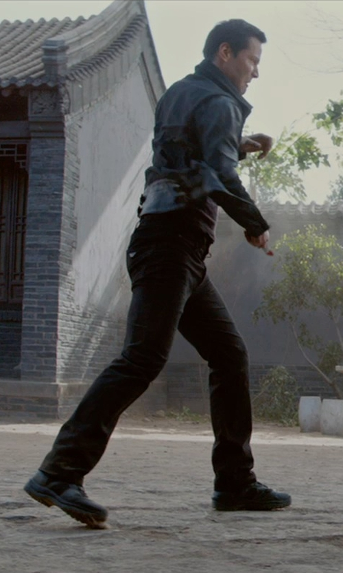 Keanu Reeves with Nudie Jeans Tight Long John Slim-Fit Organic Dry-Denim Jeans in Man of Tai Chi