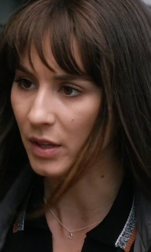 Troian Bellisario with Dogeared  Reminder Dream Sterling Silver Wishbone Pendant Necklace in Pretty Little Liars