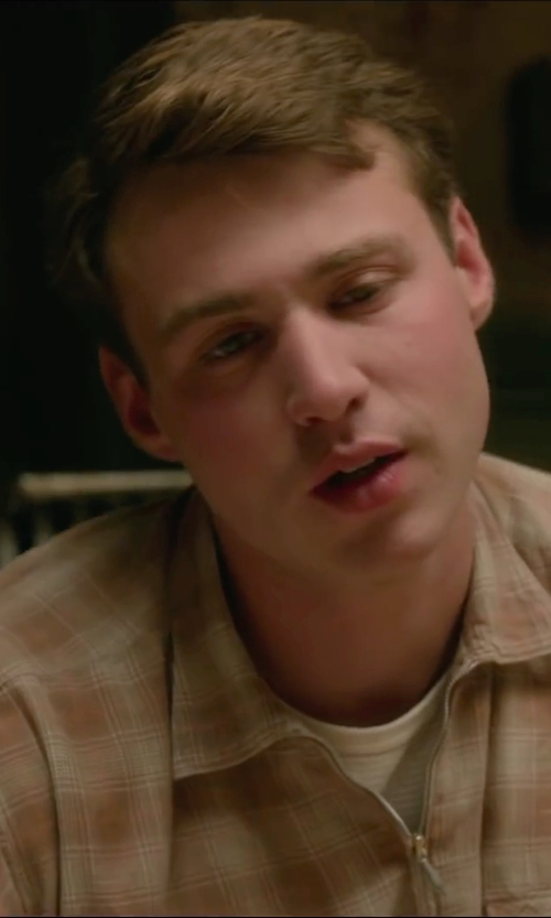 Emory Cohen with Pendleton Fitted Board Shirt in Brooklyn