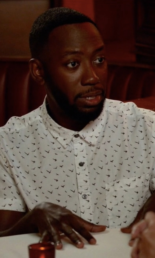 Lamorne Morris with Forever 21 Bird Print Pocket Shirt in New Girl