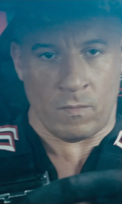 Vin Diesel with Burberry Brit Embroidered Logo Polo Shirt in Furious 7