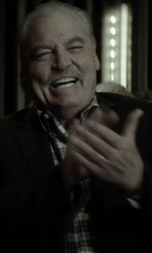 Stacy Keach with Croft & Barrow Plaid Flannel Button-Down Shirt in If I Stay