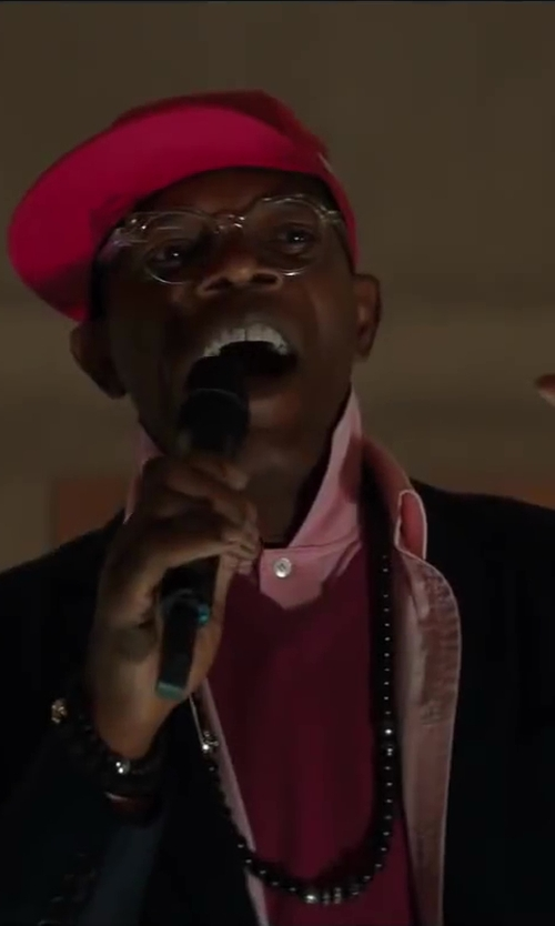 Samuel L. Jackson with Lacoste Classic Pique Polo in Kingsman: The Secret Service