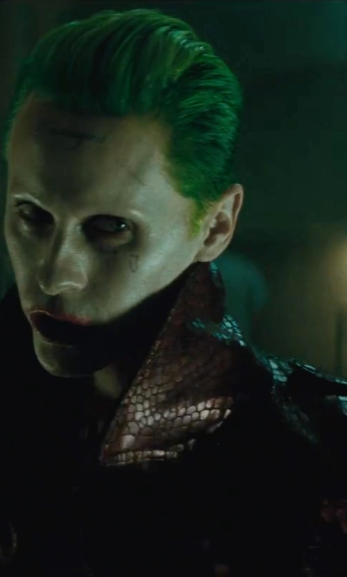 Jared Leto with Matchless Joker Trench Coat in Suicide Squad