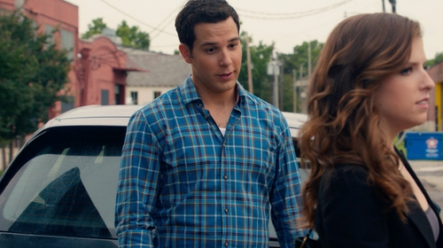 Skylar Astin with HUGO BOSS Lucas Plaid Shirt in Pitch Perfect 2