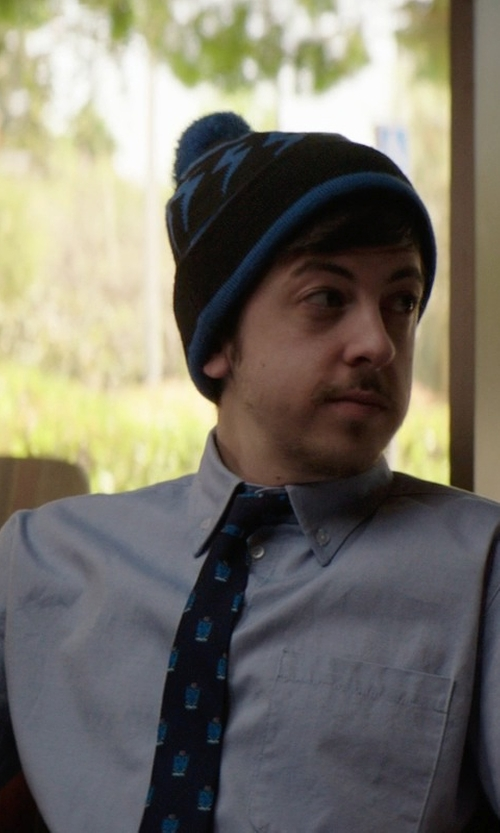 Christopher Mintz-Plasse with Van Heusen Men's Short Sleeve Oxford Dress Shirt in Neighbors