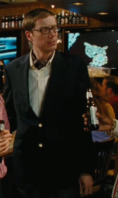Stephen Merchant with Bar III Slim-Fit Black Blazer in Hall Pass