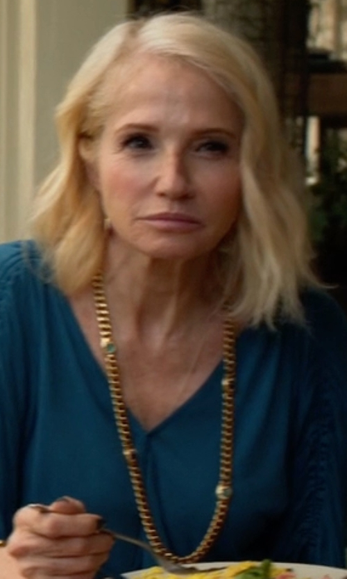 Ellen Barkin with Roberto Coin Mother-of-Pearl Long Necklace in Animal Kingdom
