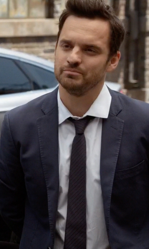 Jake Johnson with John Varvatos Star U.S.A. Andes Stripe Tie in New Girl