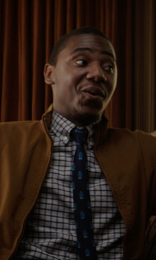 Jerrod Carmichael with J.Crew Secret Wash Shirt in Classic Check in Neighbors