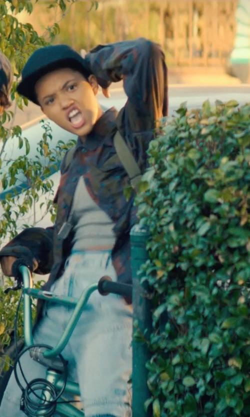 Kiersey Clemons with Topshop Slim Ribbed Tank Top in Dope
