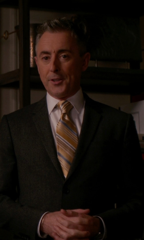 Alan Cumming with Brooks Brothers Horsebit Stripe Tie in The Good Wife
