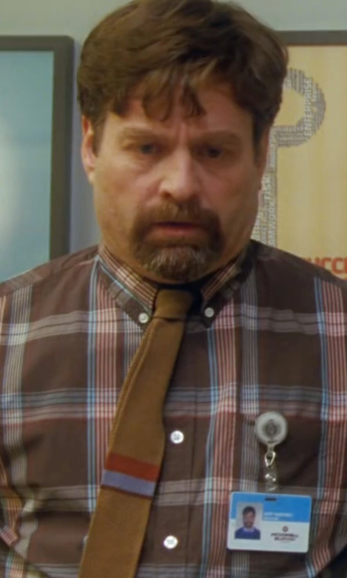 Zach Galifianakis with Tom Ford Silk Knit Flat-End Tie in Keeping Up with the Joneses