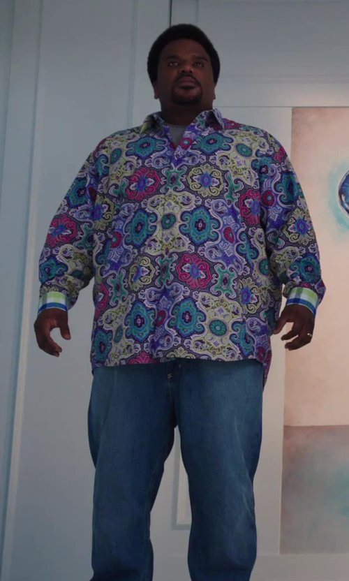 Craig Robinson with Won Hundred Dean Light Blue Jeans in Hot Tub Time Machine 2