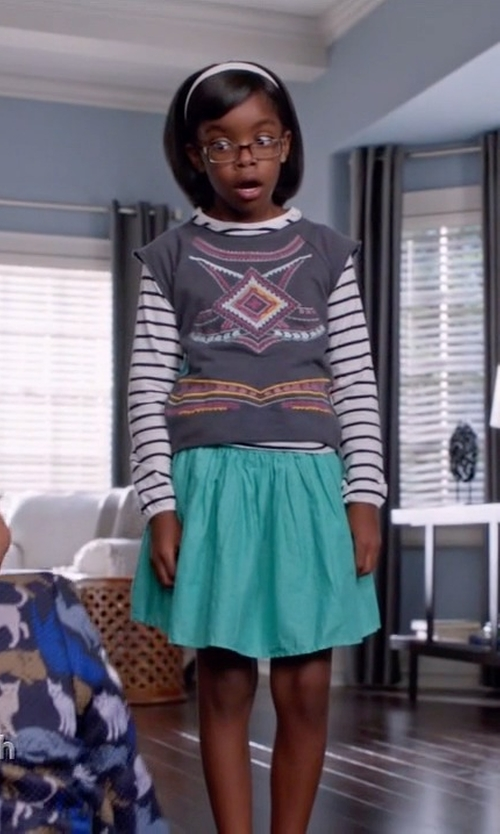 Marsai Martin with Kate Spade New York Kids Roanne Top in Black-ish