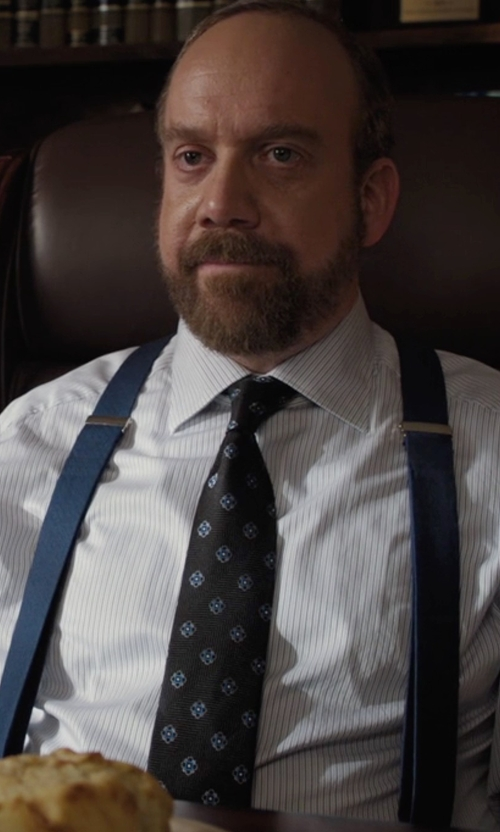 Paul Giamatti with Nordstrom Men's Shop Floral Medallion Silk Tie in Billions
