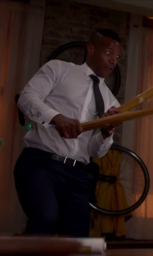 Marlon Wayans with Timberland Leather Belt in Fifty Shades of Black