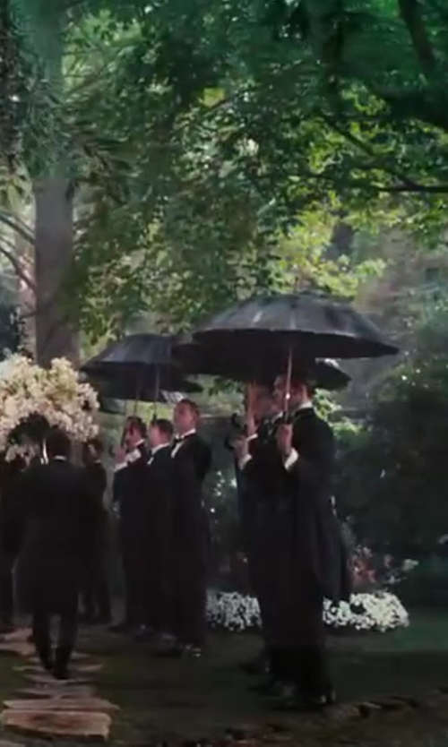 Unknown Actor with King Formal Wear Italian Designer Men's Black Tail Tuxedo in The Great Gatsby