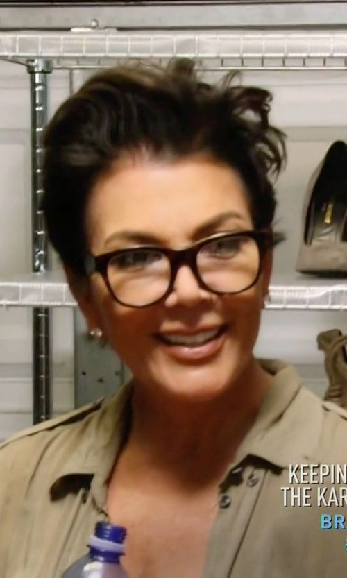 Kris Jenner with Oliver Peoples Afton Shiny Eyeglasses in Keeping Up With The Kardashians