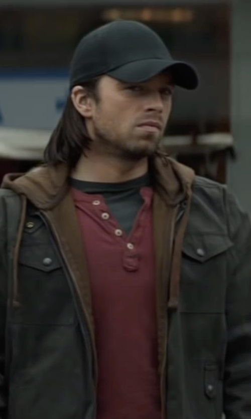 Sebastian Stan with VAINEL New York Canvas Hat in Captain America: Civil War