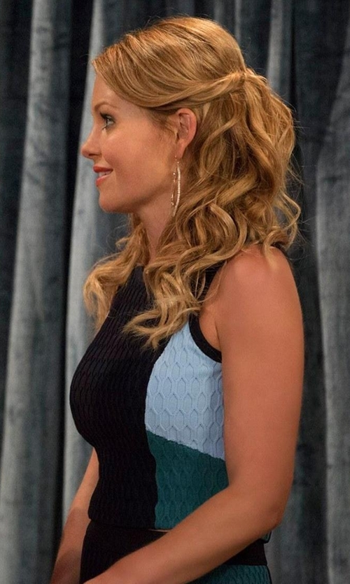 Candace Cameron Bure with Jonathan Simkhai Colorblock Crop Top in Fuller House