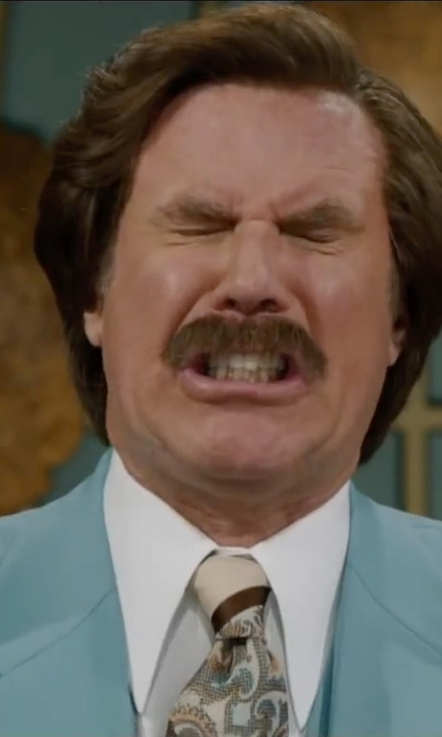 Will Ferrell with Tommy Bahama Men's Mini Tropical Paisley Necktie in Anchorman 2: The Legend Continues