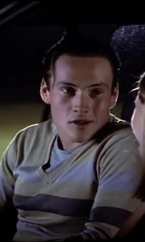 Chris Klein with Allude Lightweight V-Neck Sweater in American Pie
