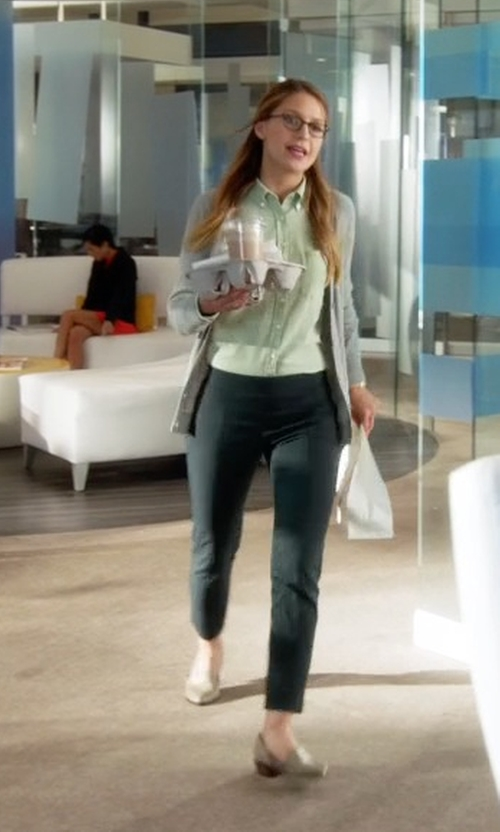 Melissa Benoist with Marc Fisher Ltd 'Sunny' Half D'orsay Flat in Supergirl