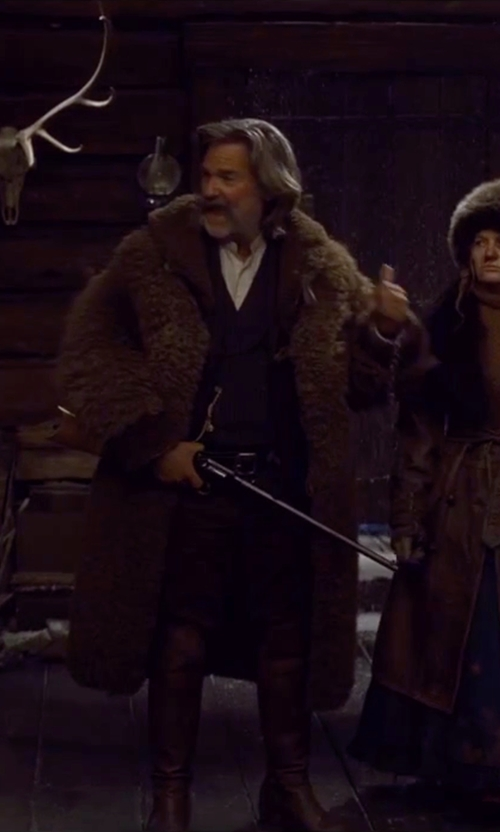 Kurt Russell with Rag & Bone Standard Issue Chino Pants in The Hateful Eight